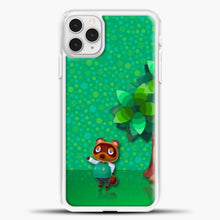 Load image into Gallery viewer, Animal Crossing Green Background iPhone 11 Pro Case, White Plastic Case | casedilegna.com
