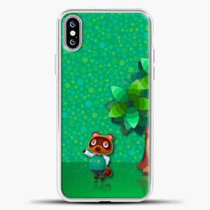 Animal Crossing Green Background iPhone XS Max Case, White Plastic Case | casedilegna.com