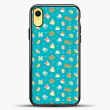 Load image into Gallery viewer, Animal Crossing Green Pattern iPhone XR Case, Black Plastic Case | casedilegna.com