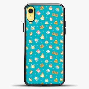 Animal Crossing Green Pattern iPhone XR Case, Black Plastic Case | casedilegna.com