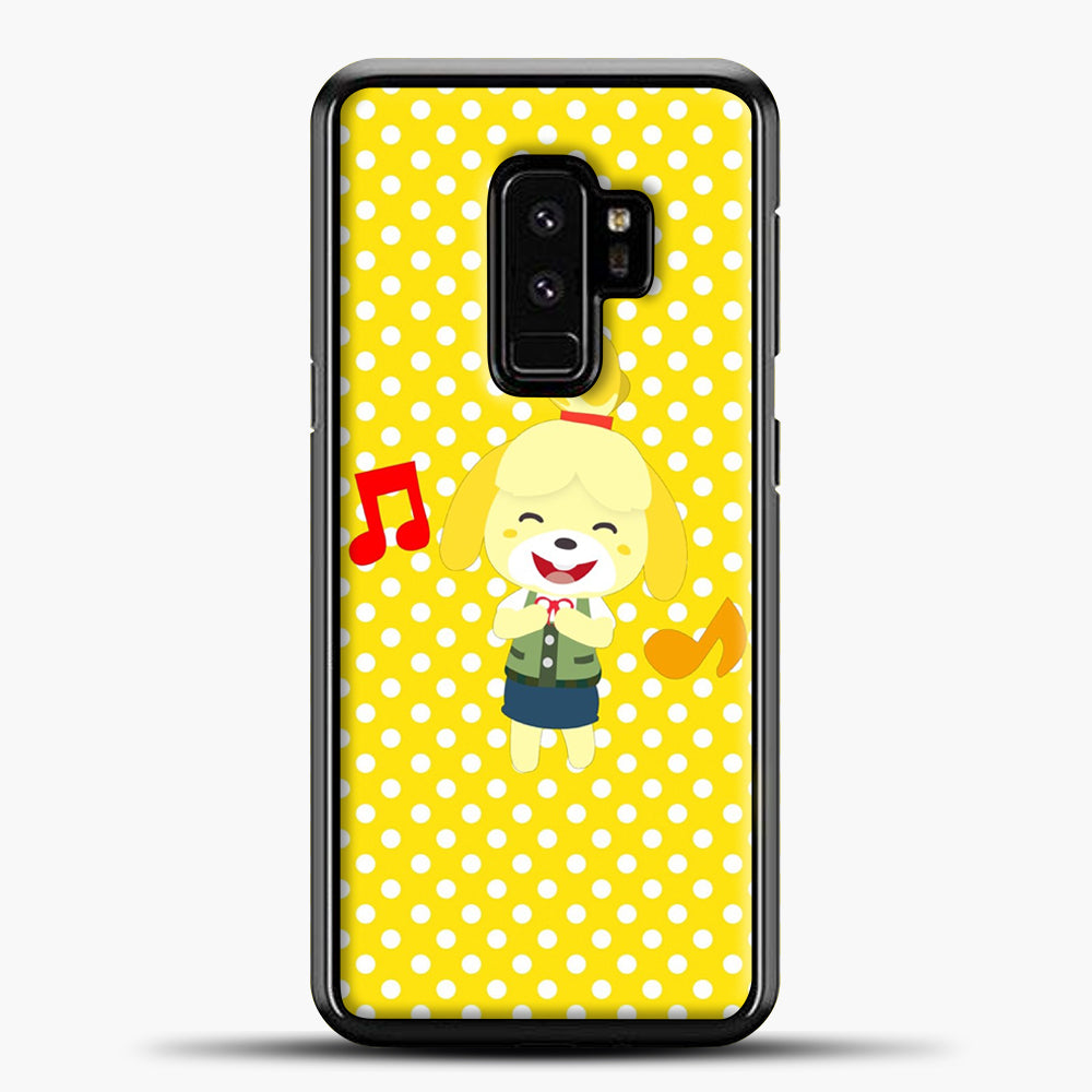 Animal Crossing Happy Cartoon Samsung Galaxy S9 Plus Case, Black Plastic Case | casedilegna.com
