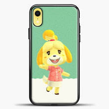 Load image into Gallery viewer, Animal Crossing Happy iPhone XR Case, Black Plastic Case | casedilegna.com