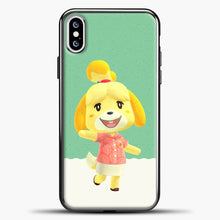 Load image into Gallery viewer, Animal Crossing Happy iPhone XS Case, Black Plastic Case | casedilegna.com
