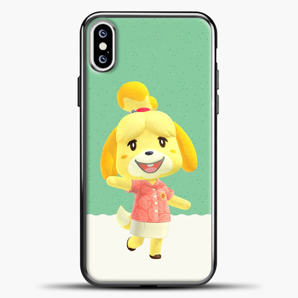 Animal Crossing Happy iPhone XS Case, Black Plastic Case | casedilegna.com