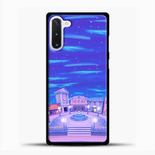 Load image into Gallery viewer, Animal Crossing House The Night Samsung Galaxy Note 10 Case, Black Plastic Case | casedilegna.com