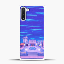 Load image into Gallery viewer, Animal Crossing House The Night Samsung Galaxy Note 10 Case, White Plastic Case | casedilegna.com