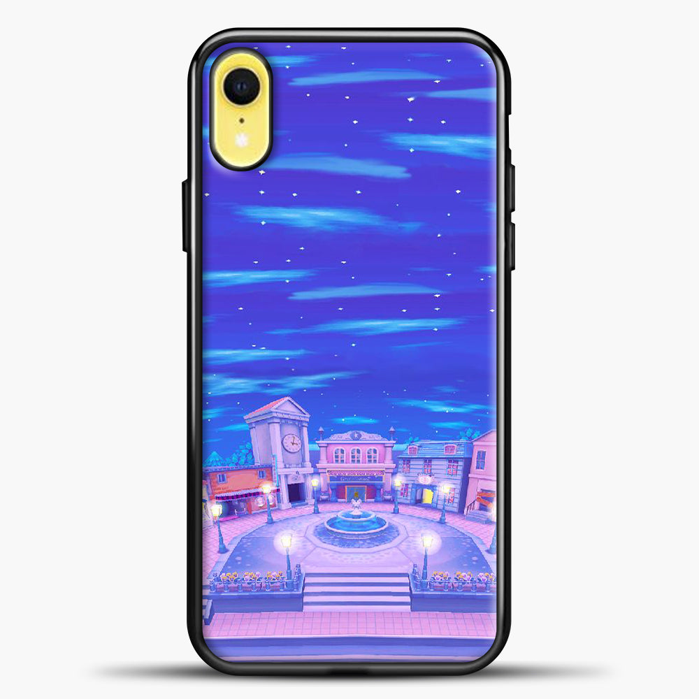 Animal Crossing House The Night iPhone XR Case, Black Plastic Case | casedilegna.com