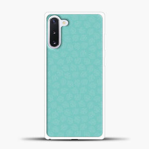 Animal Crossing Leav Pattern Background Samsung Galaxy Note 10 Case, White Plastic Case | casedilegna.com