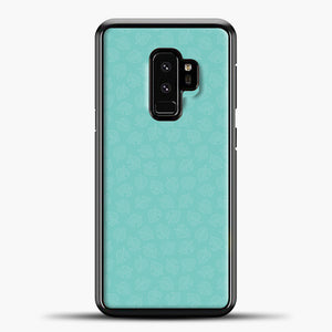 Animal Crossing Leav Pattern Background Samsung Galaxy S9 Case, Black Plastic Case | casedilegna.com