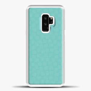 Animal Crossing Leav Pattern Background Samsung Galaxy S9 Case, White Plastic Case | casedilegna.com