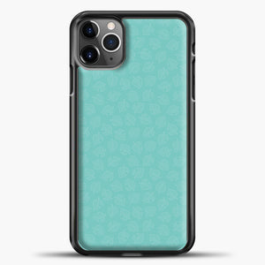 Animal Crossing Leav Pattern Background iPhone 11 Pro Max Case, Black Plastic Case | casedilegna.com