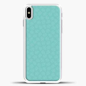 Animal Crossing Leav Pattern Background iPhone X Case, White Plastic Case | casedilegna.com