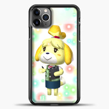 Load image into Gallery viewer, Animal Crossing Light Bubble iPhone 11 Pro Max Case, Black Plastic Case | casedilegna.com