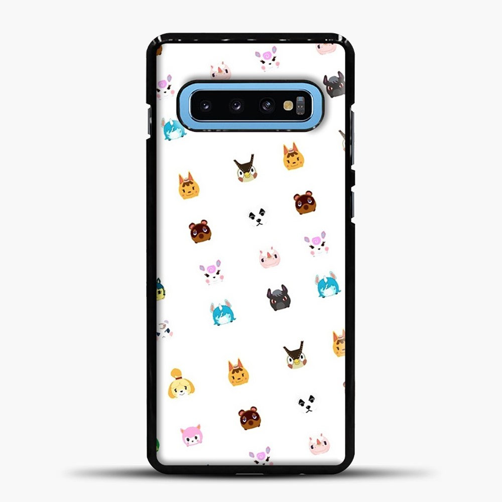 Animal Crossing New Leaf Tsum Pattern Samsung Galaxy S10 Case, Black Plastic Case | casedilegna.com