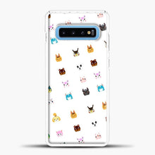 Load image into Gallery viewer, Animal Crossing New Leaf Tsum Pattern Samsung Galaxy S10 Case, White Plastic Case | casedilegna.com