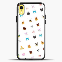 Load image into Gallery viewer, Animal Crossing New Leaf Tsum Pattern iPhone XR Case, Black Plastic Case | casedilegna.com