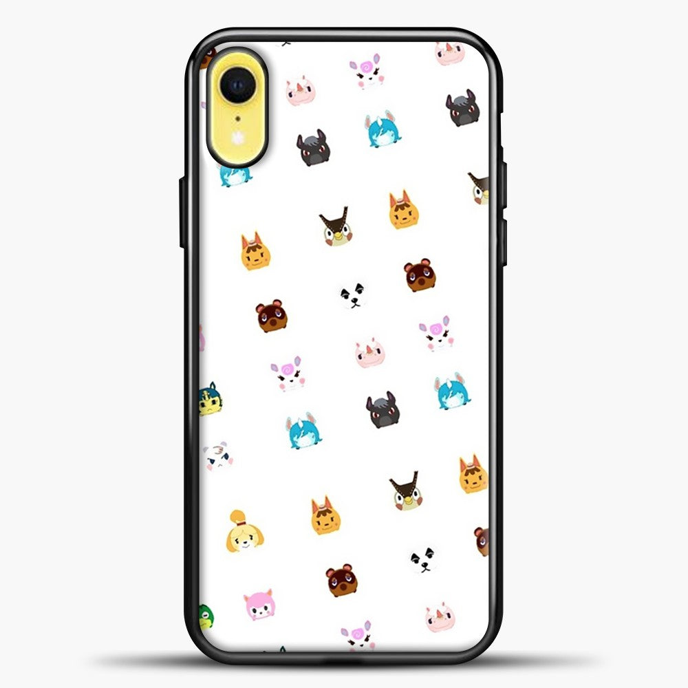 Animal Crossing New Leaf Tsum Pattern iPhone XR Case, Black Plastic Case | casedilegna.com