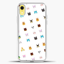 Load image into Gallery viewer, Animal Crossing New Leaf Tsum Pattern iPhone XR Case, White Plastic Case | casedilegna.com