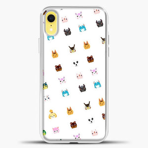 Animal Crossing New Leaf Tsum Pattern iPhone XR Case, White Plastic Case | casedilegna.com