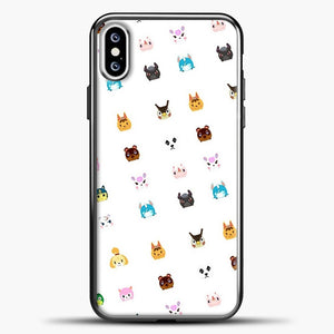 Animal Crossing New Leaf Tsum Pattern iPhone XS Case, Black Plastic Case | casedilegna.com