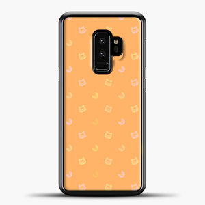 Animal Crossing Orange Bcakground Samsung Galaxy S9 Case, Black Plastic Case | casedilegna.com