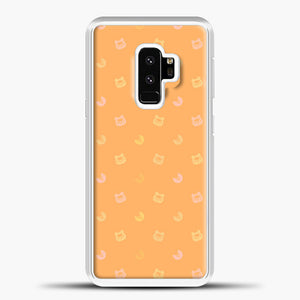 Animal Crossing Orange Bcakground Samsung Galaxy S9 Case, White Plastic Case | casedilegna.com