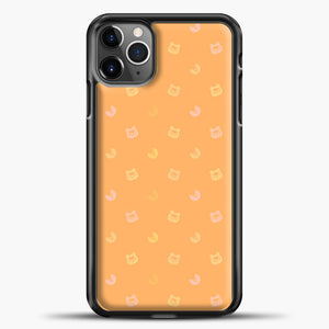 Animal Crossing Orange Bcakground iPhone 11 Pro Max Case, Black Plastic Case | casedilegna.com