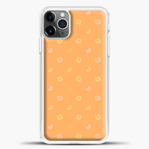 Animal Crossing Orange Bcakground iPhone 11 Pro Max Case, White Plastic Case | casedilegna.com