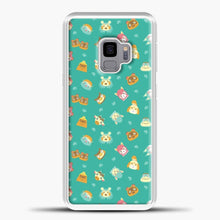 Load image into Gallery viewer, Animal Crossing Pattern Blue Samsung Galaxy S9 Case, White Plastic Case | casedilegna.com