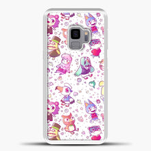Load image into Gallery viewer, Animal Crossing Pattern Purple Line Samsung Galaxy S9 Case, White Plastic Case | casedilegna.com