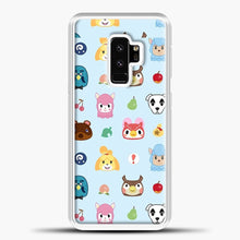 Load image into Gallery viewer, Animal Crossing Pattern Sky Blue Samsung Galaxy S9 Plus Case, White Plastic Case | casedilegna.com