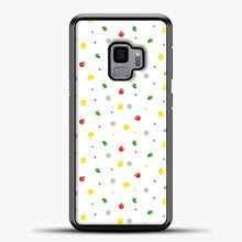 Load image into Gallery viewer, Animal Crossing Pattern White Samsung Galaxy S9 Case, Black Plastic Case | casedilegna.com