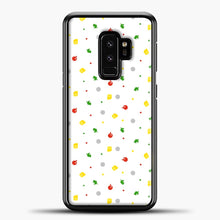 Load image into Gallery viewer, Animal Crossing Pattern White Samsung Galaxy S9 Plus Case, Black Plastic Case | casedilegna.com