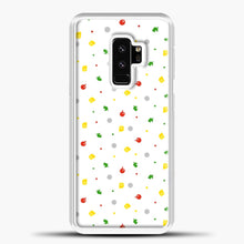 Load image into Gallery viewer, Animal Crossing Pattern White Samsung Galaxy S9 Plus Case, White Plastic Case | casedilegna.com