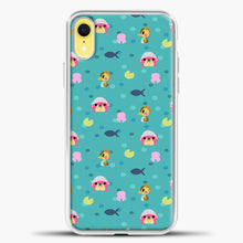 Load image into Gallery viewer, Animal Crossing Polkadot And Blue Background iPhone XR Case, White Plastic Case | casedilegna.com