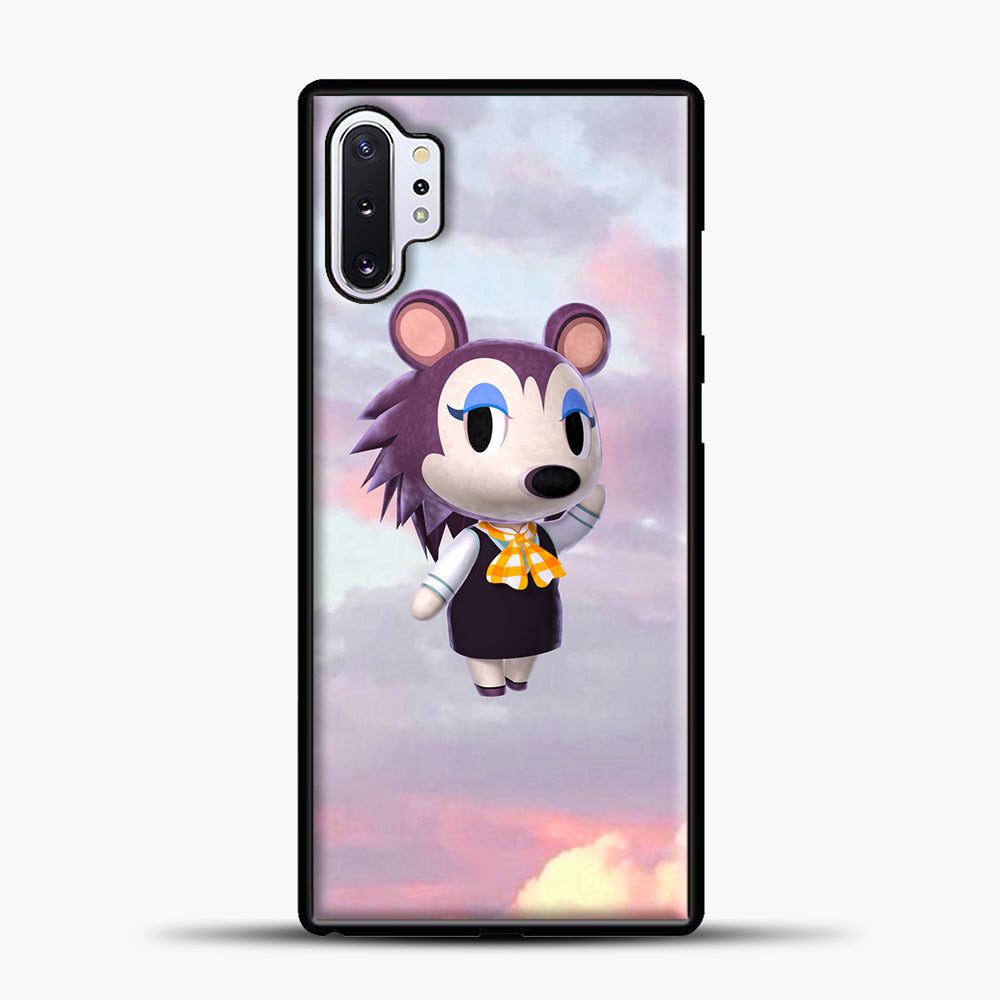 Animal Crossing Puprple Clouds Samsung Galaxy Note 10 Plus Case, Black Plastic Case | casedilegna.com