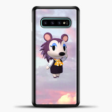 Load image into Gallery viewer, Animal Crossing Puprple Clouds Samsung Galaxy S10e Case, Black Plastic Case | casedilegna.com