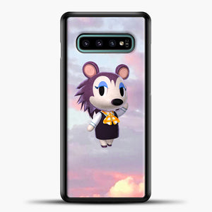 Animal Crossing Puprple Clouds Samsung Galaxy S10e Case, Black Plastic Case | casedilegna.com