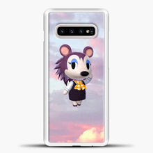 Load image into Gallery viewer, Animal Crossing Puprple Clouds Samsung Galaxy S10e Case, White Plastic Case | casedilegna.com