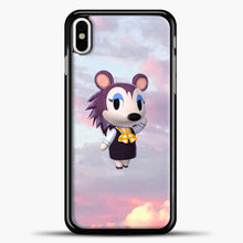 Load image into Gallery viewer, Animal Crossing Puprple Clouds iPhone X Case, Black Plastic Case | casedilegna.com