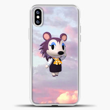 Load image into Gallery viewer, Animal Crossing Puprple Clouds iPhone XS Case, White Plastic Case | casedilegna.com