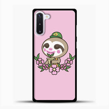 Load image into Gallery viewer, Animal Crossing Purple Background Samsung Galaxy Note 10 Case, Black Plastic Case | casedilegna.com