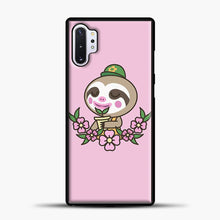 Load image into Gallery viewer, Animal Crossing Purple Background Samsung Galaxy Note 10 Plus Case, Black Plastic Case | casedilegna.com