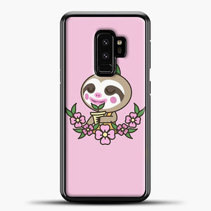 Animal Crossing Purple Background Samsung Galaxy S9 Plus Case, Black Plastic Case | casedilegna.com
