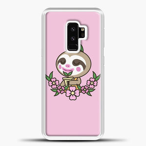 Animal Crossing Purple Background Samsung Galaxy S9 Plus Case, White Plastic Case | casedilegna.com