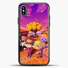 Load image into Gallery viewer, Animal Crossing Purple Cloud iPhone XS Max Case, Black Plastic Case | casedilegna.com