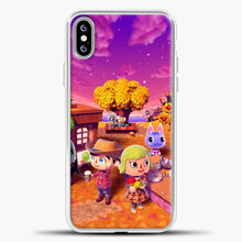 Load image into Gallery viewer, Animal Crossing Purple Cloud iPhone XS Max Case, White Plastic Case | casedilegna.com