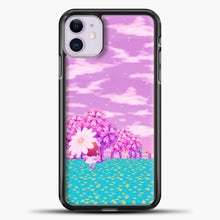 Load image into Gallery viewer, Animal Crossing Purple Sky iPhone 11 Case, Black Plastic Case | casedilegna.com