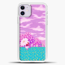 Load image into Gallery viewer, Animal Crossing Purple Sky iPhone 11 Case, White Plastic Case | casedilegna.com