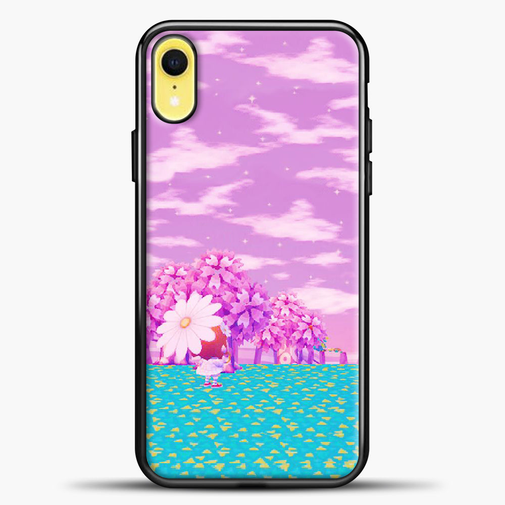 Animal Crossing Purple Sky iPhone XR Case, Black Plastic Case | casedilegna.com